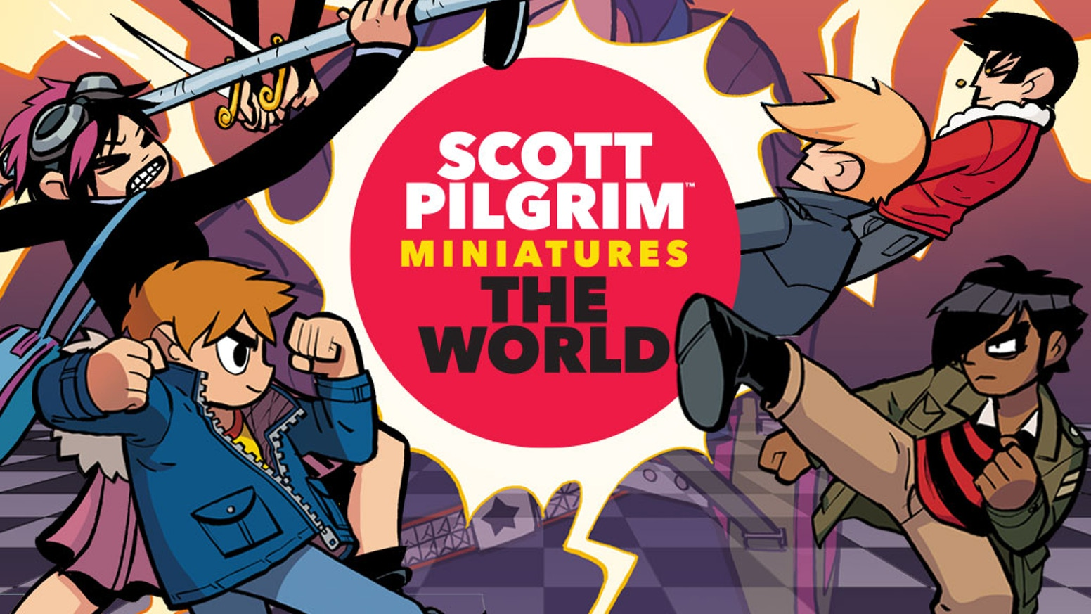 Scott Pilgrim Miniatures the World with full-color epic miniatures of all your favorite characters battling on dynamic pop-up boards!