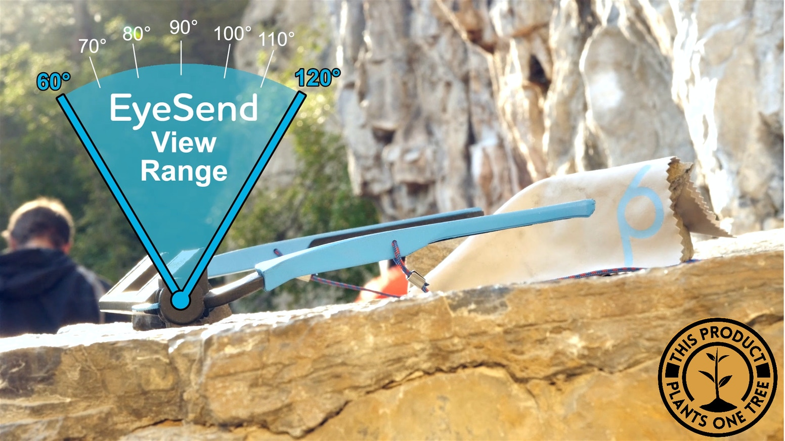 Belay without bending your neck! This product is now in production and you can buy the EyeSend Adjustable-View Belay Glasseshttps://pitchsix.com/products/belay-glasses-eyesend-adjustable-view