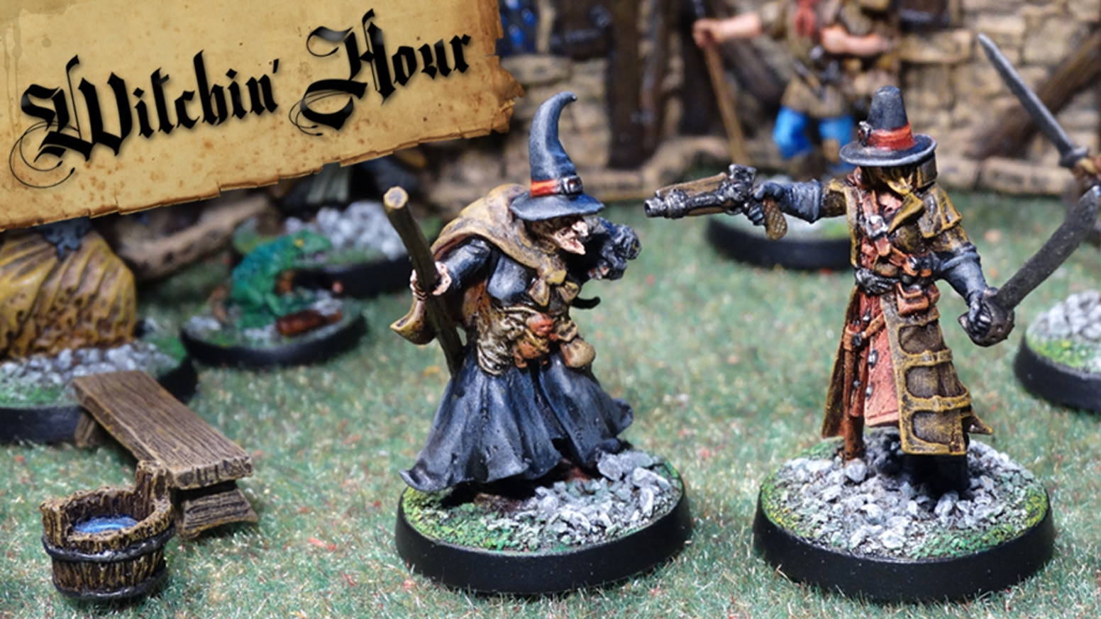 A tabletop skirmish game pitting Witch Hunters against Witches.