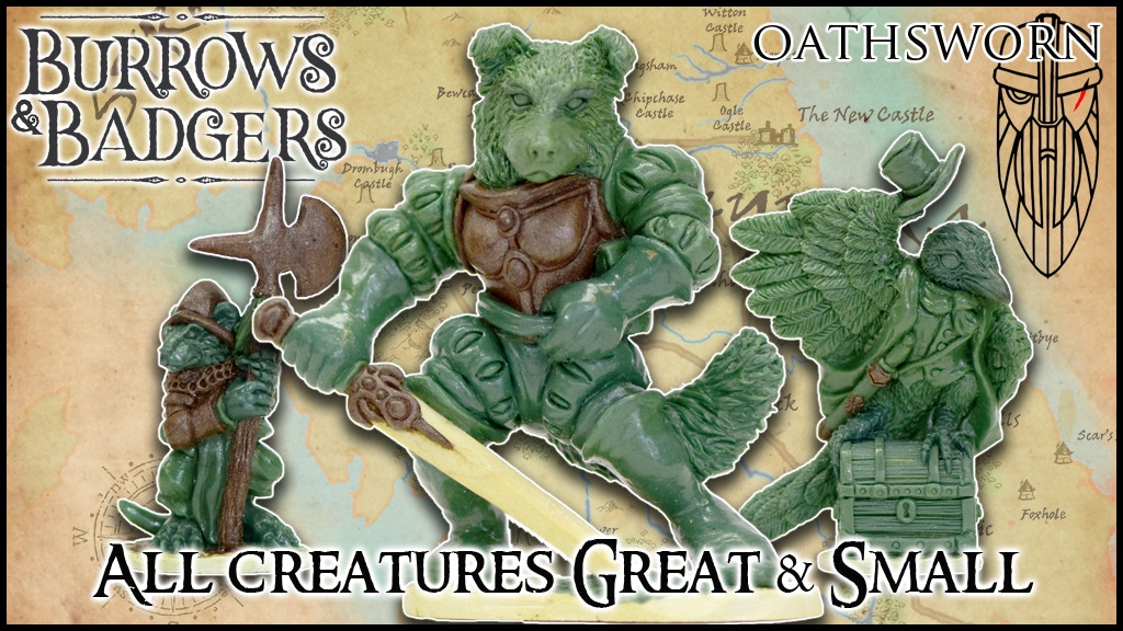 Burrows & Badgers: Great & Small anthro minis by Oathsworn project video thumbnail