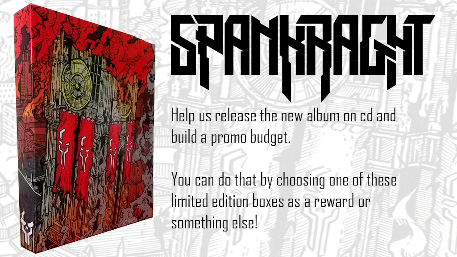Spankraght's full album in badass packaging! With your help, we did it!