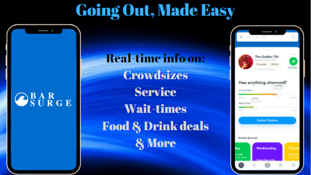 The Bar Surge App | Real-time info on Bars and Restaurants project video thumbnail