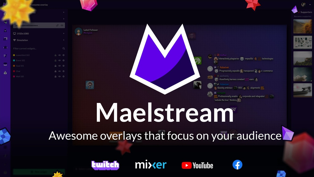 Maelstream.com: awesome overlays that focus on your audience