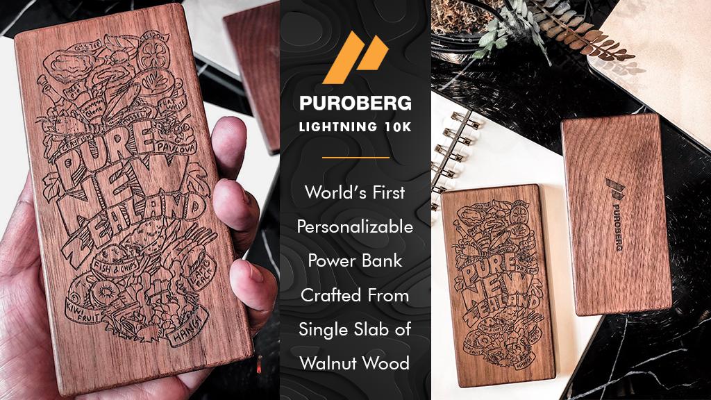 PuroBerg | The World's Best Craftmanship Wooden Powerbank project video thumbnail