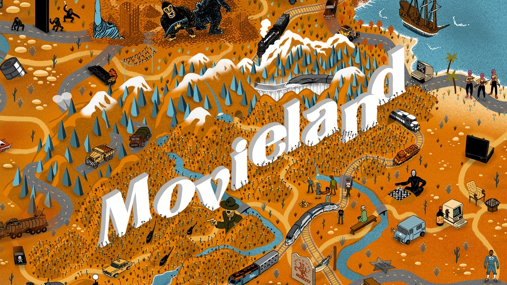 The Illustrated Maps of Movieland (posters) project video thumbnail
