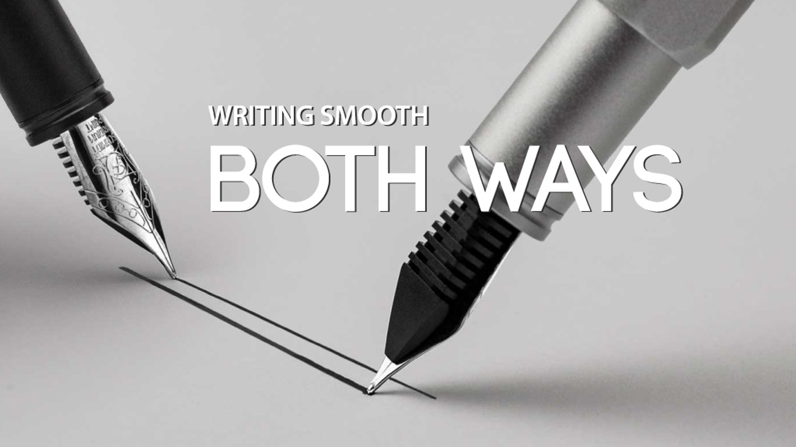 Patented nib ground by artisanpromises distinctive line widths and consistent ink flow from one singlenib.