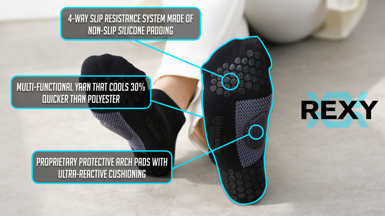 Our socks feature excellent arch support, compression, breathability, slip resistance, and quick-drying materials.