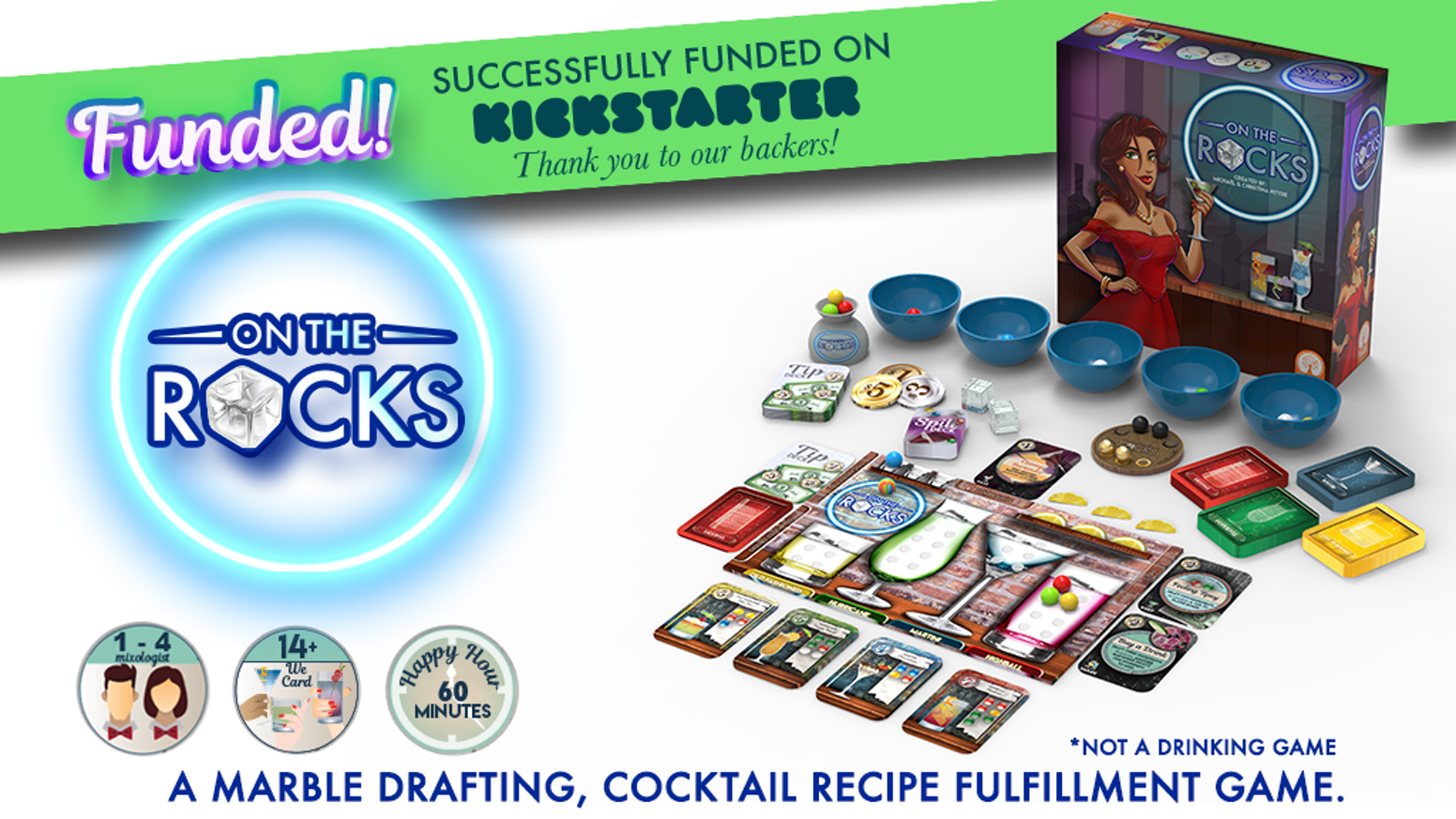 On The Rocks: A marble drafting cocktail recipe fulfillment game