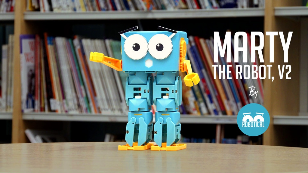 Marty the Robot v2 - The walking, dancing, coding companion project video thumbnail