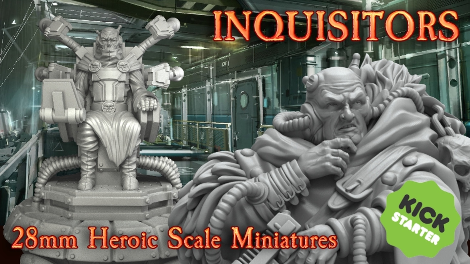 Inquisitors resin and digital miniatures in 28mm heroic scale