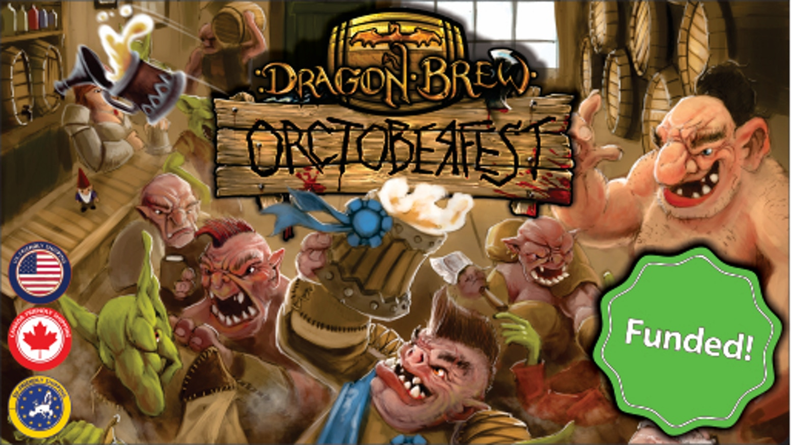A fast fun card game where you and your friends brew custom beers during Orctoberfest to win the favor of the Orc judges of Brumancia.