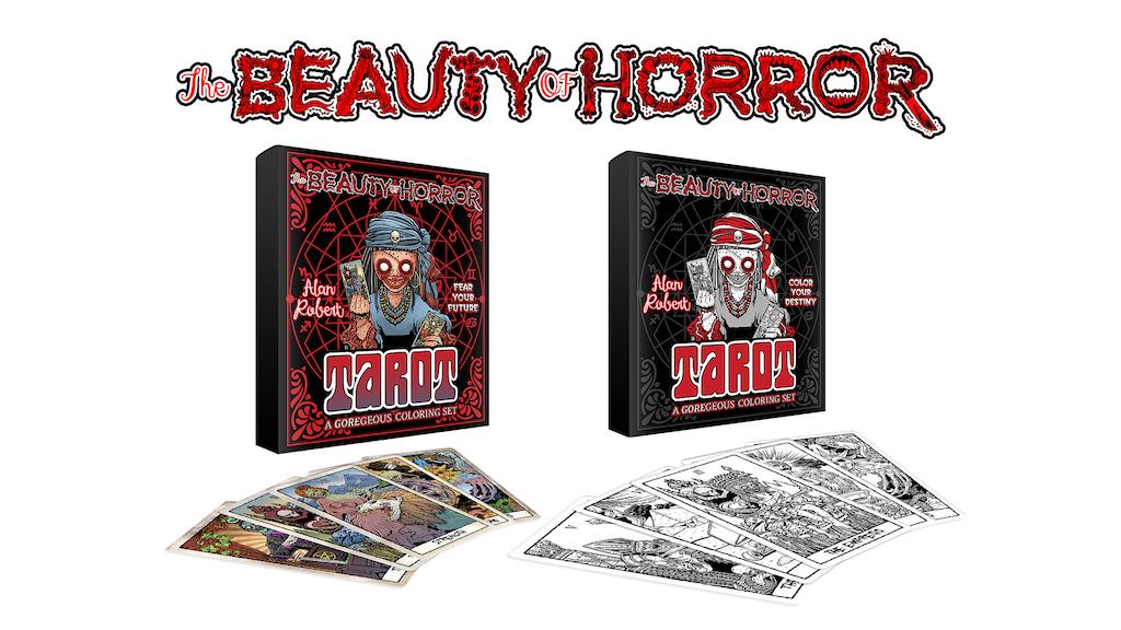 The Beauty of Horror Tarot Card Set project video thumbnail