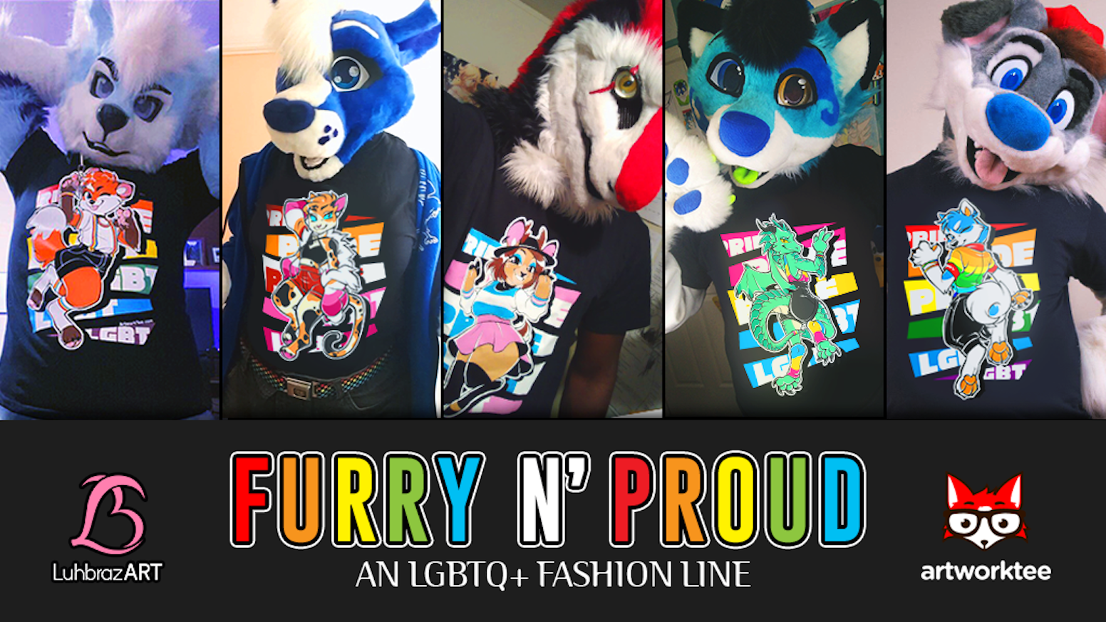 Show your furry pride with ArtworkTee's new line of LGBT+ shirts!