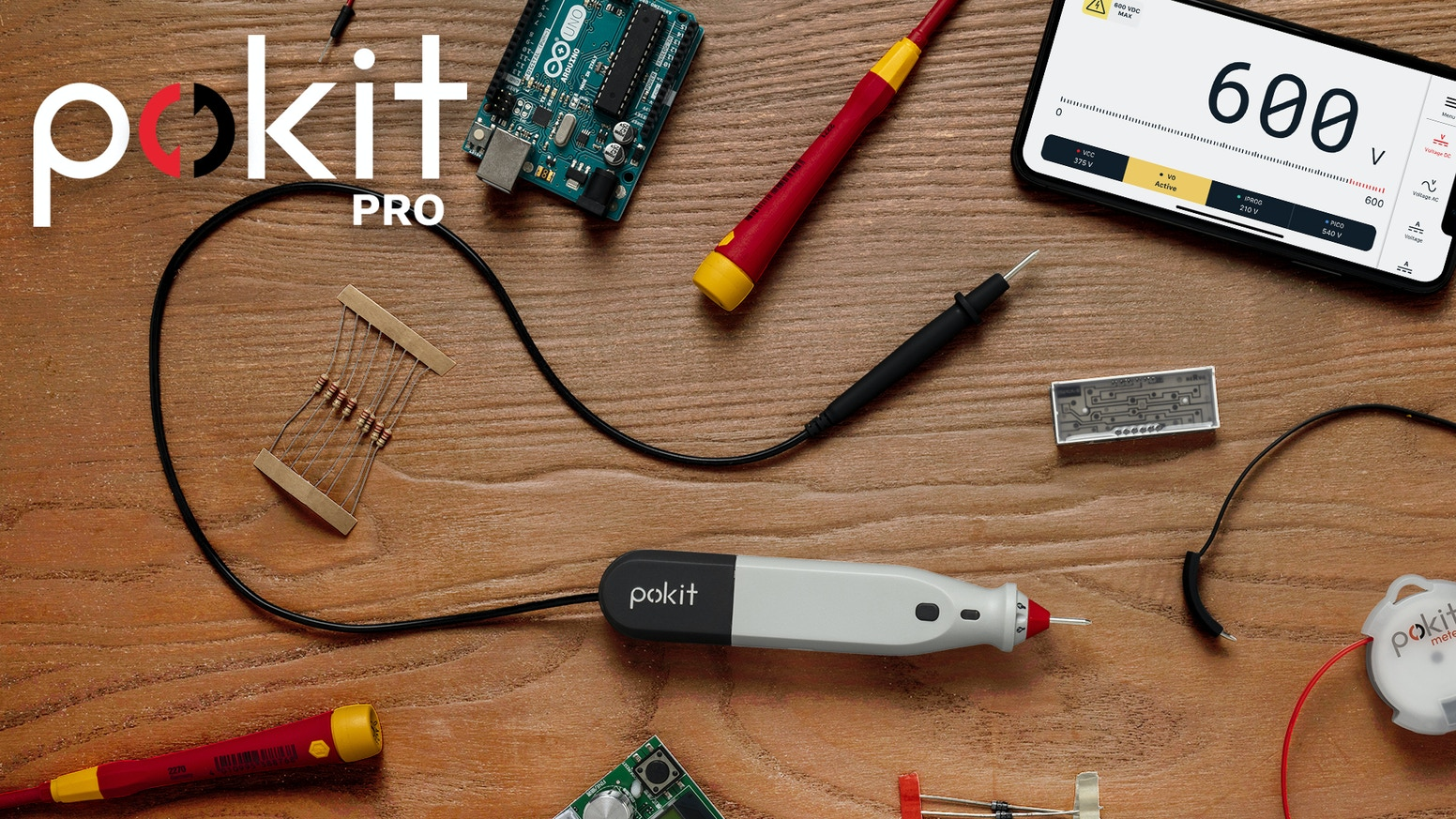 Pokit PRO frees you from the bench. Take your creativity to new places. If you missed it on Kickstarter you can secure your pre-order on Indiegogo.