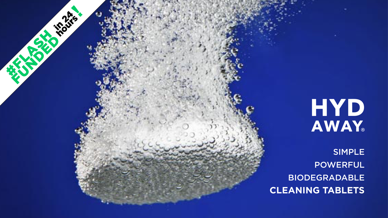 HYDAWAY's cleaning tabs are a powerful, dual-action, biodegradable cleaning solution for silicone, stainless & plastic water bottles!