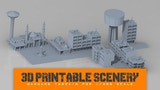 Printable Scenery: 1/285 and 6mm models for modern conflicts thumbnail