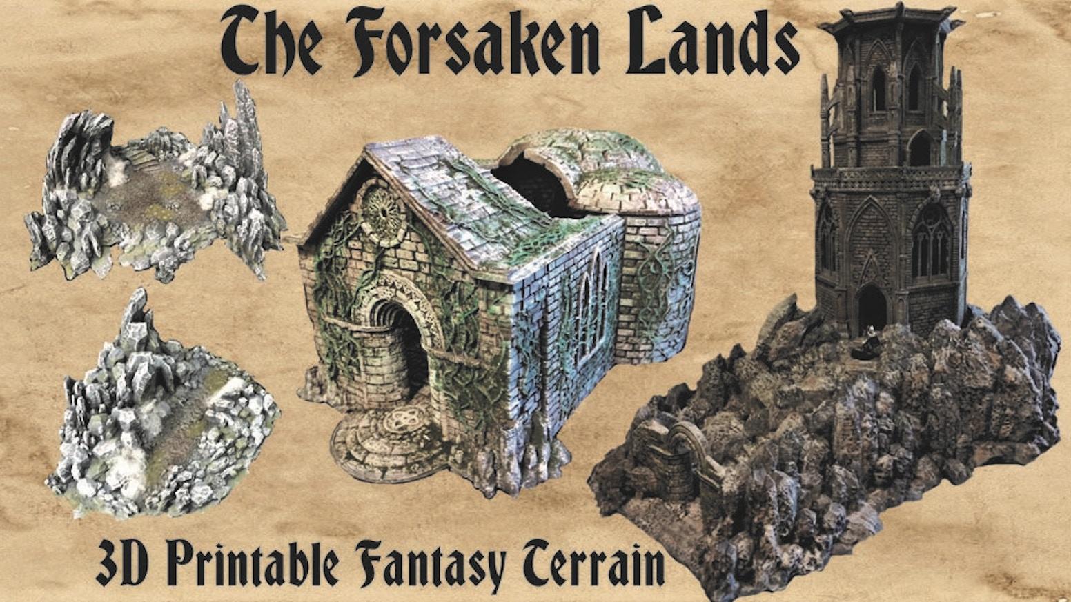 Forsaken Lands 3d Printable Fantasy Tabletop Terrain By Archangel Design Kickstarter