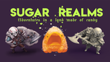 Sugar Realms: Candy Golem STL files and a new 5e race thumbnail