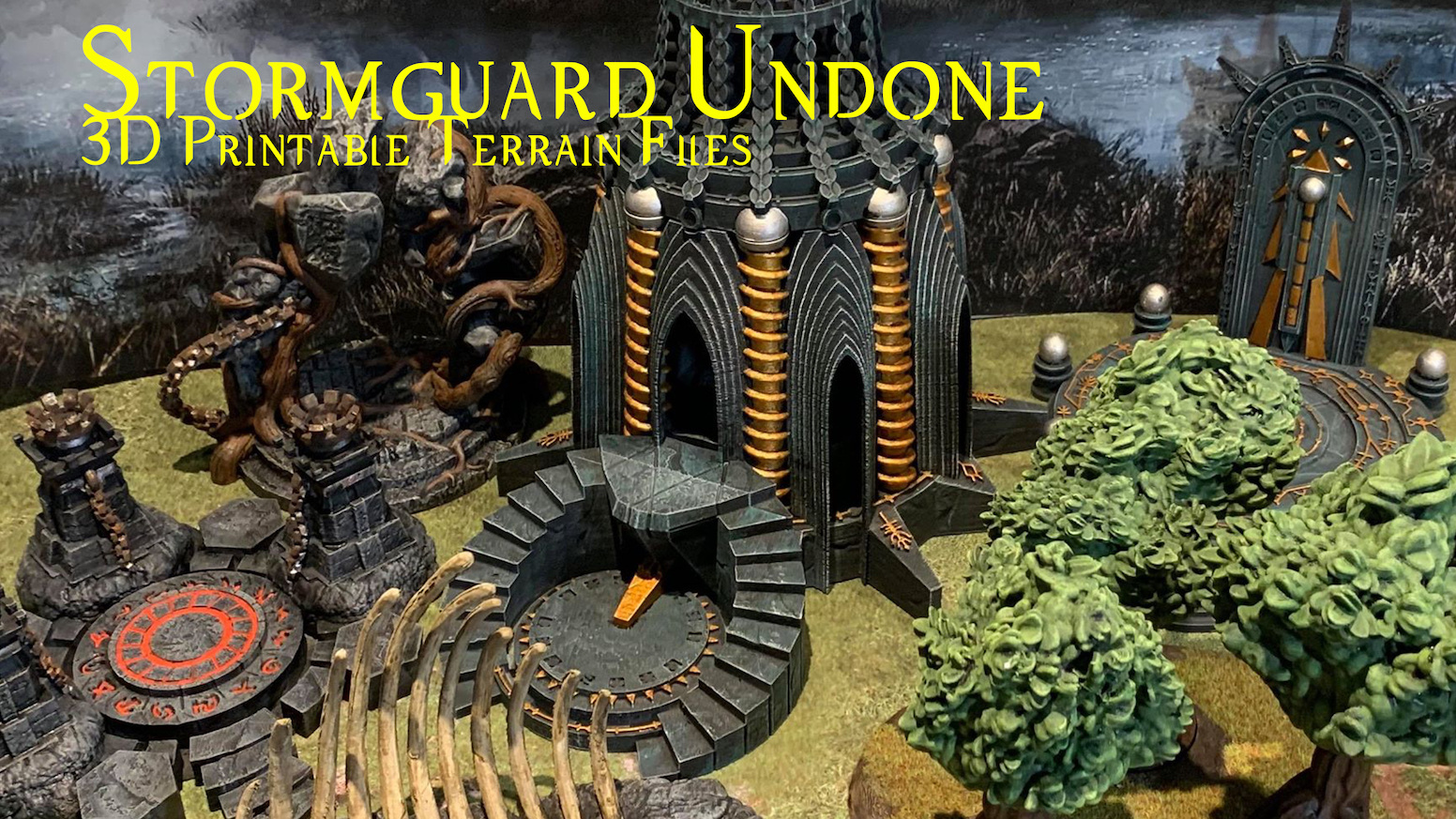 Stormguard Undone is a set of highly detailed 3D printable fantasy terrain (STL files) for home 3D printing