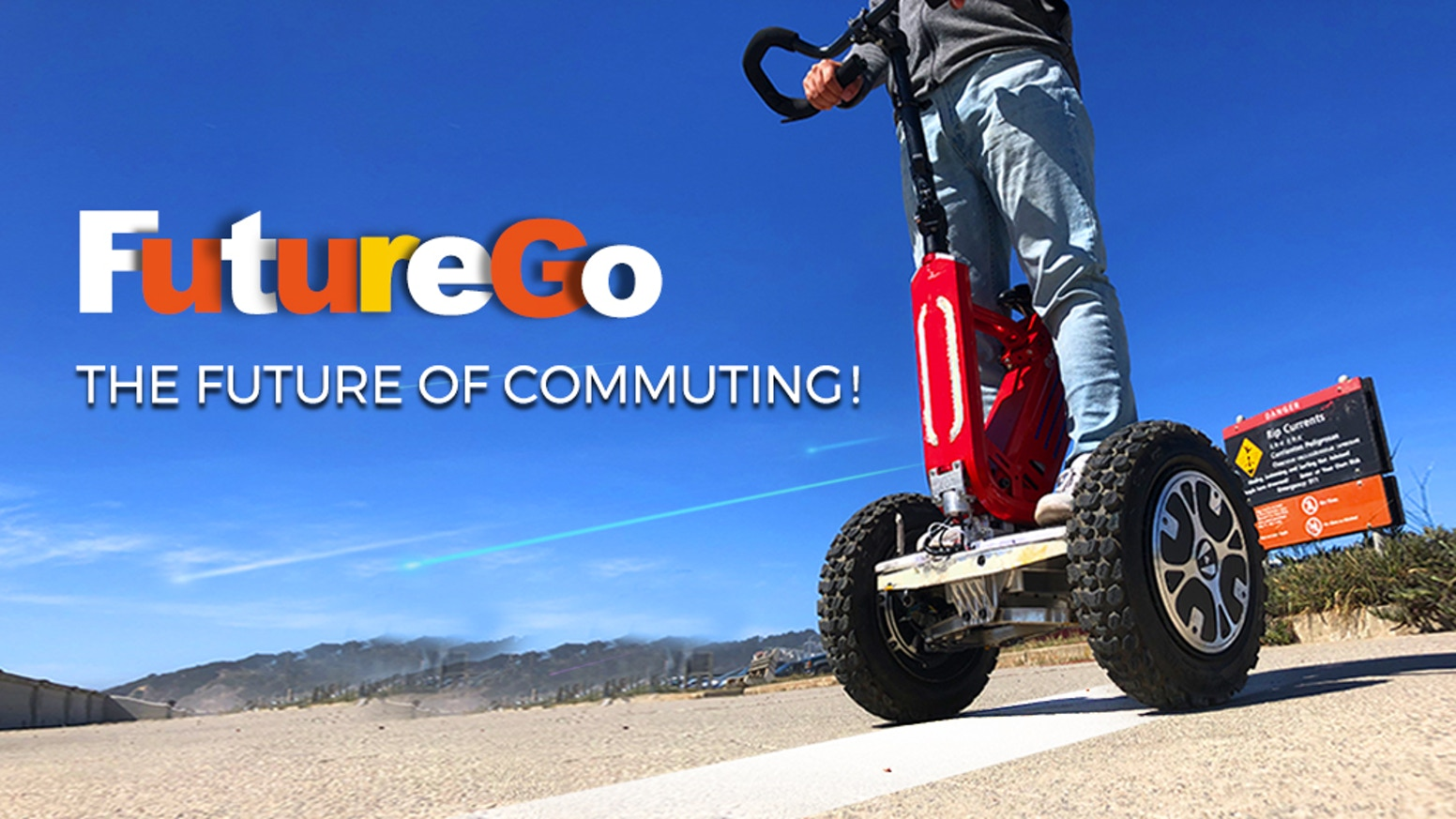 The world's smartest eco-friendly all-terrain self-balancing electric scooter with automotive technology. The future of commuting!