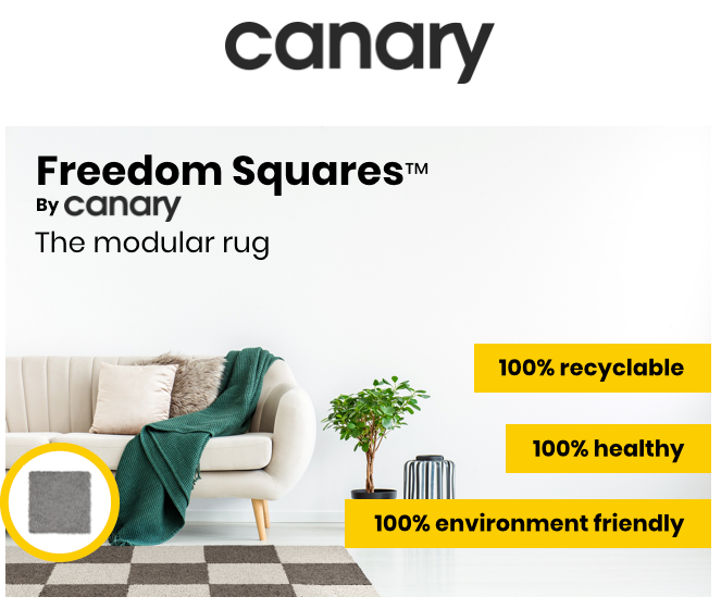 Freedom Squares Modular Eco Friendly Washable Rugs By