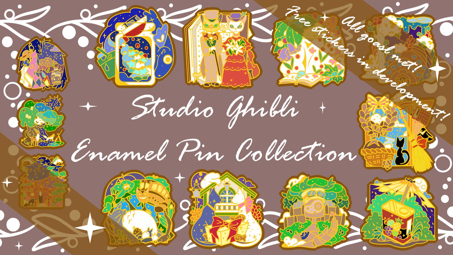 Continued Collection of Studio Ghibli Enamel Pins!