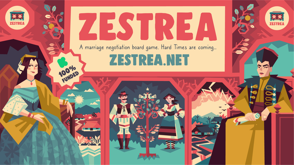 ZESTREA - a marriage negotiation board game project video thumbnail