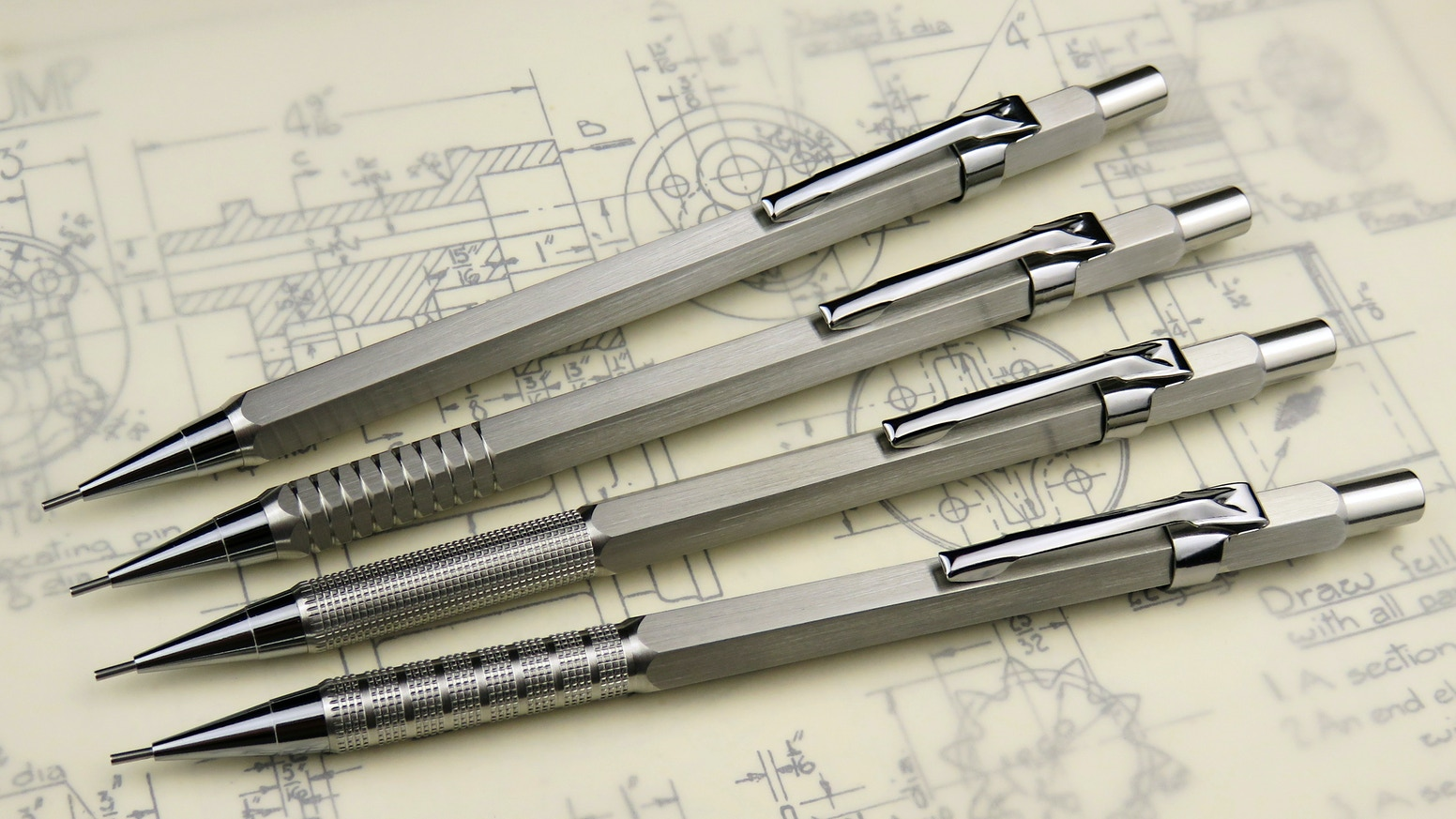 Handmade, all-metal mechanical pencil, designed to last a lifetime. Missed the Kickstarter? Don't worry! You can buy the pencils by clicking below.
