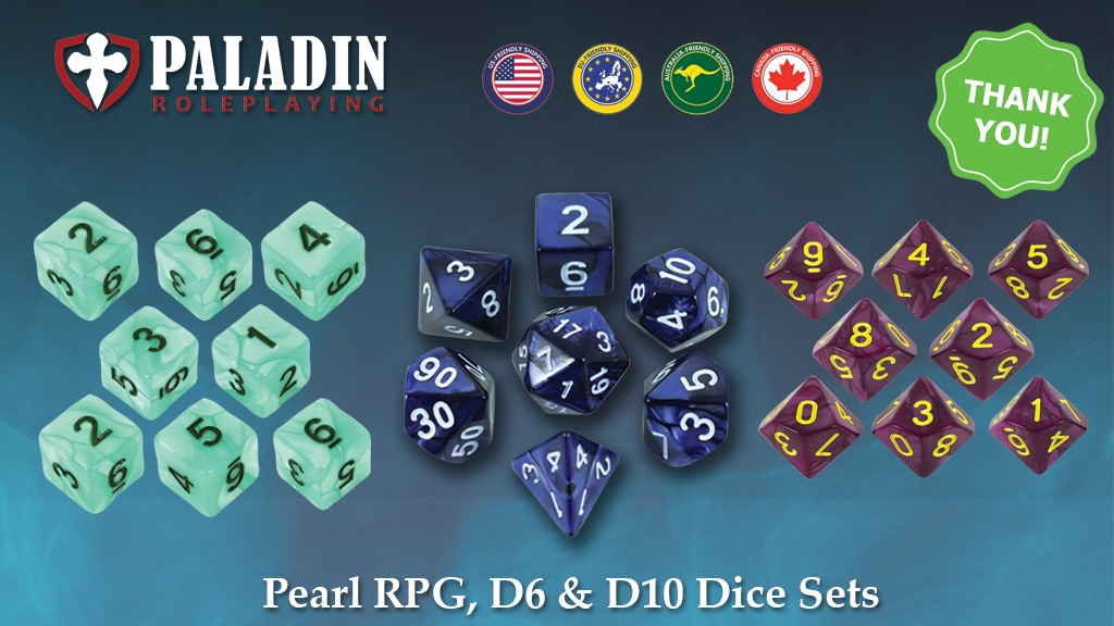 Beautiful RPG Dice Sets for DnD and other roleplaying games project video thumbnail