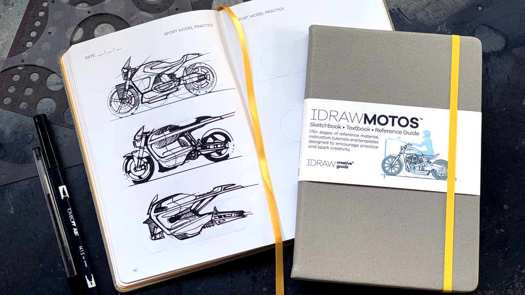 I DRAW MOTOS Sketchbook & Reference Guide project video thumbnail