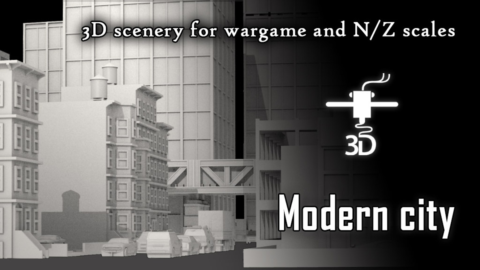 Complet collection of buildings & accessories for small scale wargame and trains model maker (Z & N Scales)