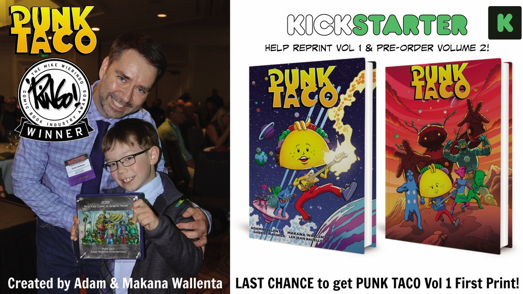 PUNK TACO Volume 1 Reprint and Volume 2 Pre-order project video thumbnail