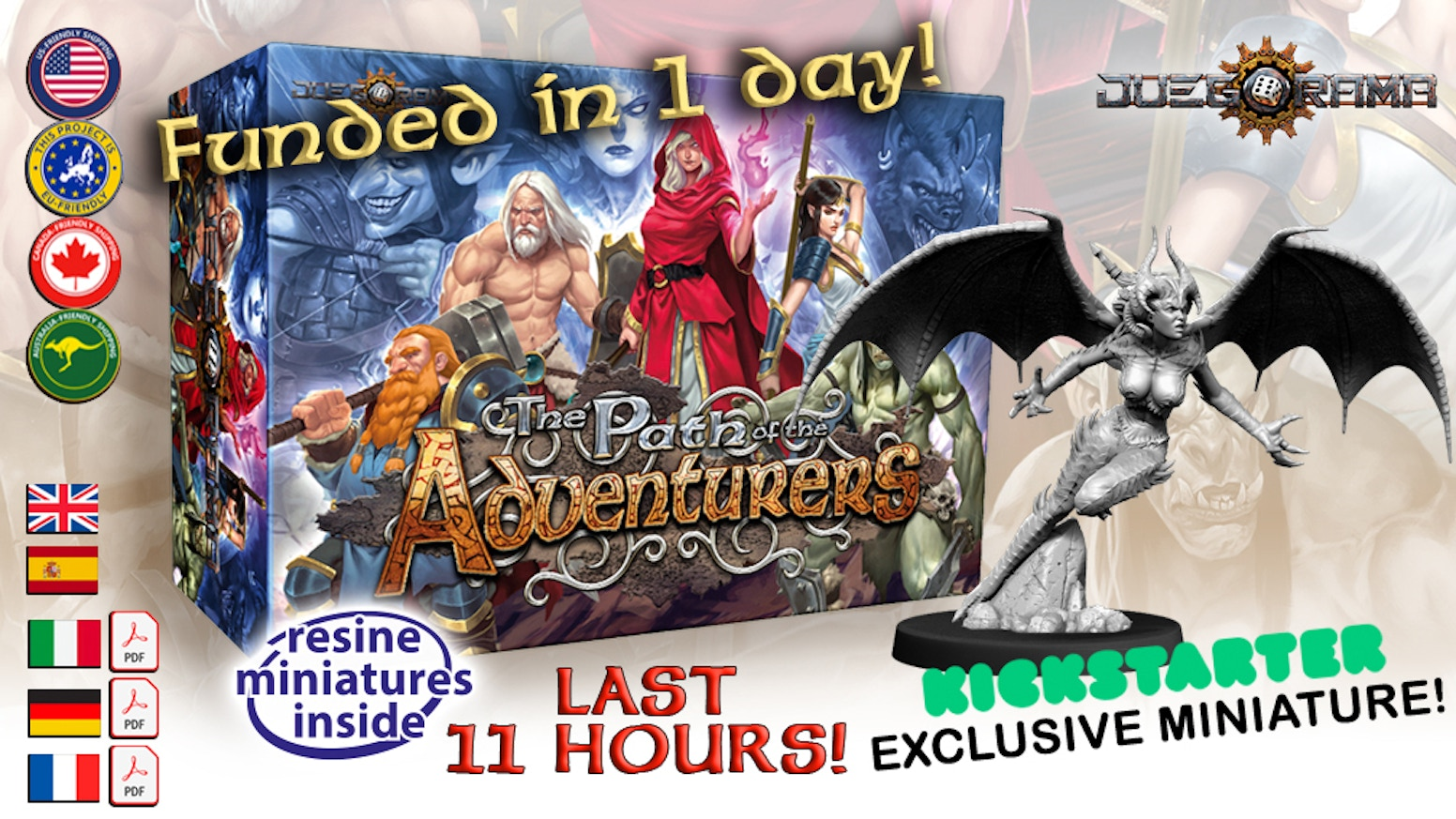The Path of the Adventurers is a combat-based exploration game for 1 to 4 players, The adventurers will fight to defeat the Dark Lords.