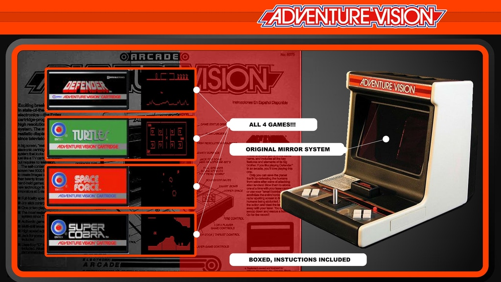 Project image for Entex Adventure Vision Game Console