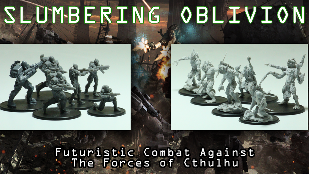 Project image for Slumbering Oblivion - Cthulhu Themed Miniatures War Game (Canceled)
