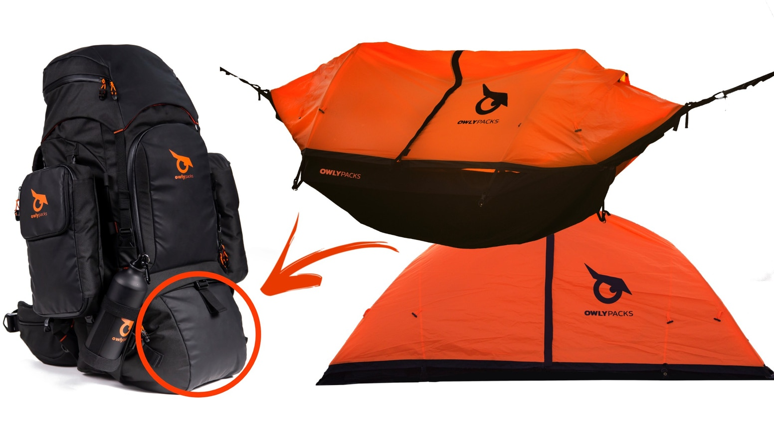 World's first Modular Backpack with Tent-Hammock combined