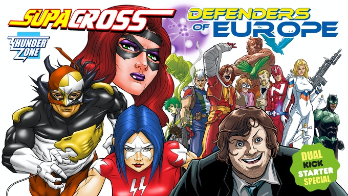 """SUPACROSS / DEFENDERS OF EUROPE"" Dual Kickstarter"