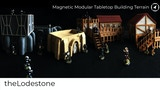 Magnetic Modular Wargaming Tabletop Building Terrain 28mm thumbnail