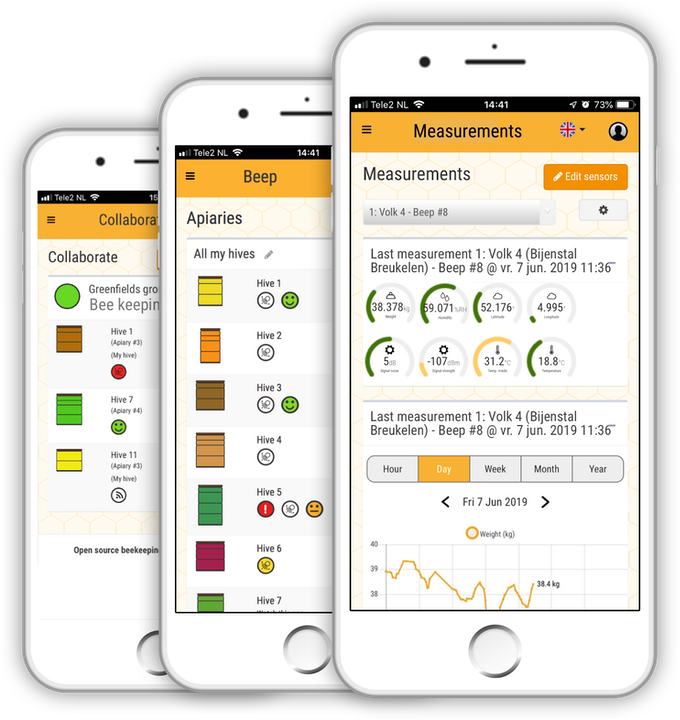 The BEEP app - real time information about your honey bee population!