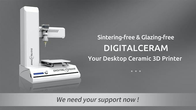 Digitalceram : Your desktop Ceramic 3D Printer