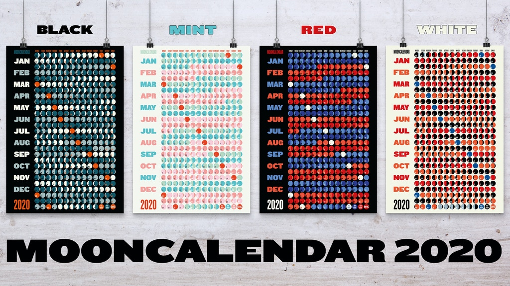 DESIGN MOONCALENDAR 2020 // THE ORIGINAL