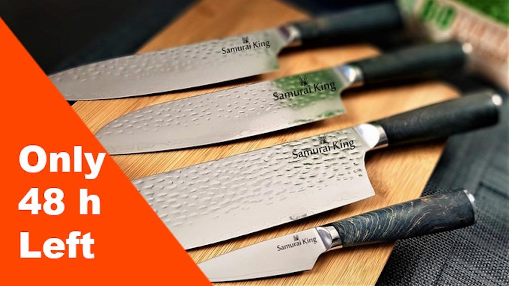 Samurai King - Sword sharp damascus knives project video thumbnail