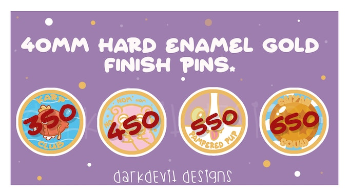 Merit Pins - A collection of very cute enamel pins.