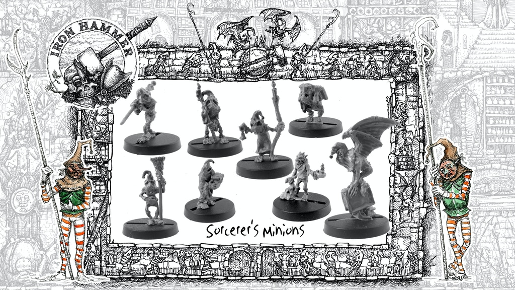 Project image for Iron Hammer Miniatures: The Sorcerer's Minions
