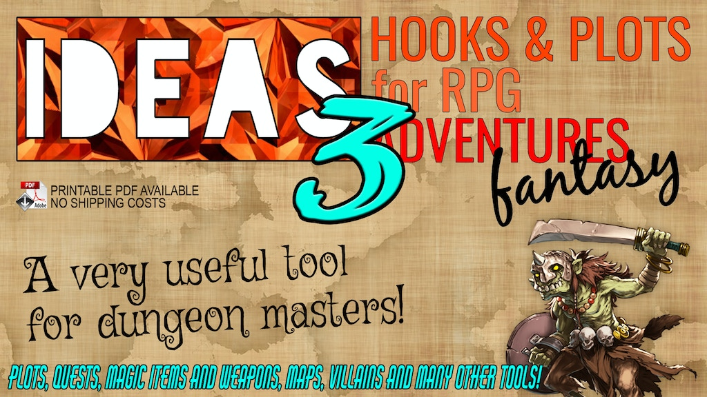 IDEAS! 3 Hooks & Plots for RPG Adventures (Phase 3) project video thumbnail