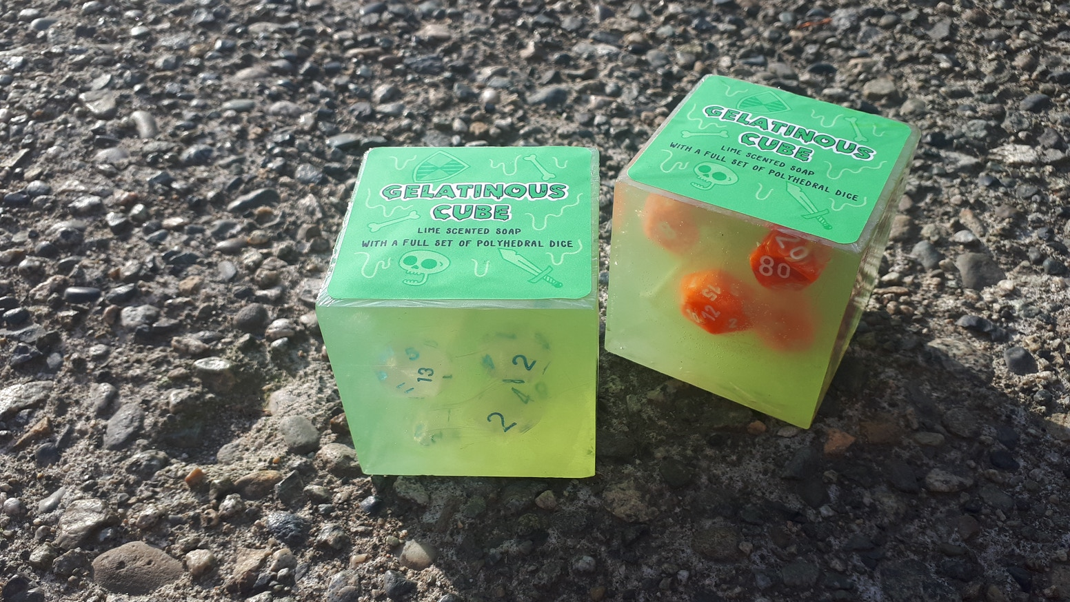 I AM making Monster shaped soap with dice inside for people who play tabletop RPGs ! Thanks to my wonderful backers!