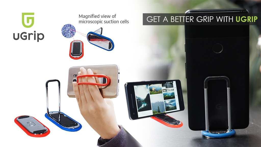 UGRIP: The Super Phone Stand Grip! project video thumbnail