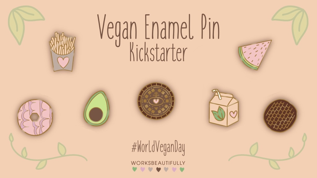 Project image for Vegan Snacks Enamel Pin Collection
