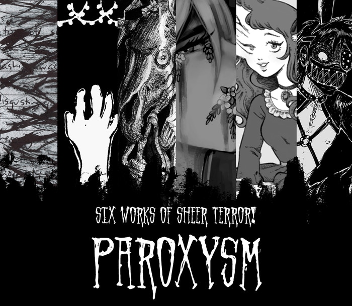 An anthology featuring original horror-themed works of prose, poetry, illustration and comics by independent artists and writers.
