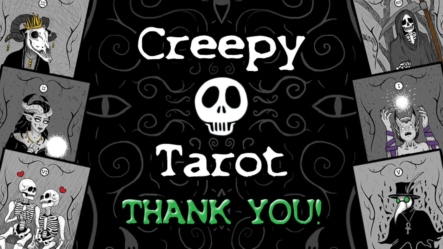 The Creepy Tarot deck is a Major Arcana deck meticulously illustrated by Stefanie Black of Creepy Kawaii.
